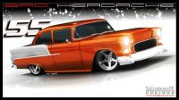 55 chevy rendering
