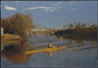 Thomas Eakins--The Champion Single Sculls (Max Schmitt in a Single Scull), 1871