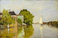 Claude Monet - Houses on the Achterzaan, 1872- especially for Donna (Mar17P77)