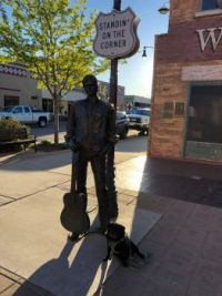 Clara- sittin' on a corner in Winslow, Arizona