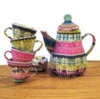 Quilted tea set
