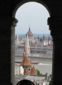Hungarian Parliament from Fishermen's Bastion, 2015 (large)