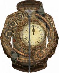 THEME: CLOCKS & TIMEPIECES - STEAMPUNK CLOCK DESIGN JACKET