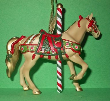 Painted Pony ornament 24b - Christmas Carousel