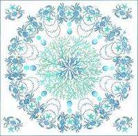 Aqua Blue Sea Mandala