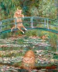 Claude Monet, Bathing in a Pond of Water Lilies