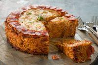 Cheesy Spaghetti Pizza Pie