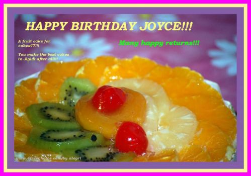 JOYCE, HAPPY BIRTHDAY!!!