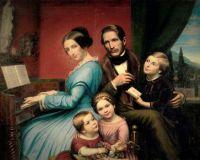 Bildnis der Familie eines Architekten (1852)