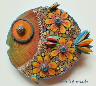 Mixed Media Fish, Artist Silvia Logi