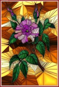 STAINED GLASS FLOWER A91