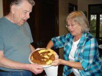 Oddio bakes his own birthday cake!