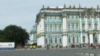 St Petersburg Russia - the edge of the Hermitage Museum (winter Palace)
