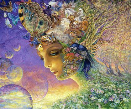 Butterflies & Bubbles - Josephine Wall, Artist