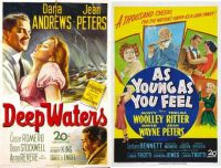 Jean Peters ~ Deep Waters ~ 1948 and As Young as You Feel ~ 1951