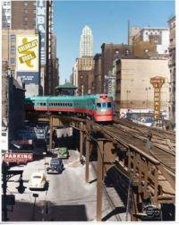 """1941 NORTH SHORE LINE """"ELECTROLINER, CHICAGO"""