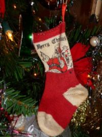 Baby's (my) First Christmas - Vintage sock