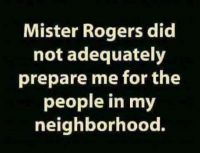 Mr Rodgers did not adequately prepare me !
