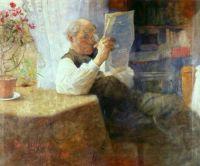 Bruno Liljefors (Swedish, 1860–1939), Portrait of Father (1884)