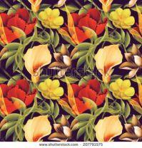 stock-photo--tropical-flower-plant-a patten