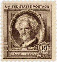 Samuel L Clemens (Twain) Postage Stamp - 1940