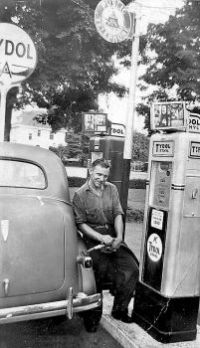 How you doin' asks Howie Getsem A popular pump jockey at the Tydol Service Station