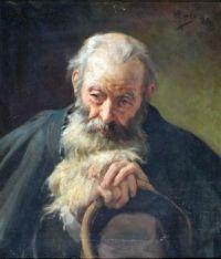 Antonio Coll y Pi (Spanish/Chilean, 1857–1942), Anciano con Sombrero en la Mano