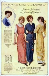 American Fashions for American Women  - Vintage Ad 1913