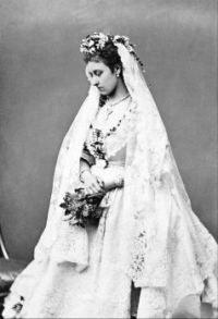 Princess Louise on her wedding day, 1871.