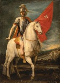 Giuseppe Cesari (Italian, 1568–1640), Saint Louis of Toulouse on Horseback