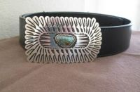 Eagle feather belt buckle
