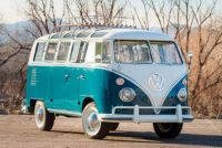 1967 Volkswagen Microbus of the prized 21-window variety