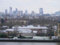 Rooftop snow London