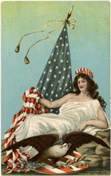 Patriotic Lady Liberty