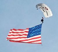 Sky Diver Delivering the Flag to the Navy vs UCF Football Game