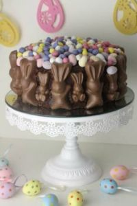 Easter Bunny & Mini Egg Chocolate Cake, recipe link included