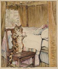 Beatrix Potter Simpkin at the Tailor's Bedside c. 1902
