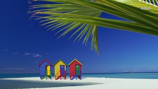 Colorful Beach Cabins 2