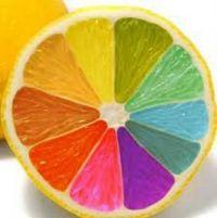 Rainbow Colored Lemon