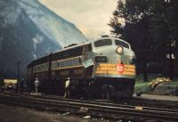 CPR train at Field, BC, 1952