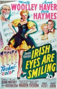 IRISH EYES ARE SMILING - 1944 POSTER JUNE HAVER, DICK HAYMES, MONTY WOOLLEY