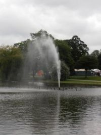 Fountain on a breezy day