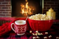 Coffee and popcorn