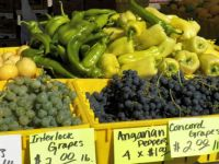Grapes and peppers, farm fresh