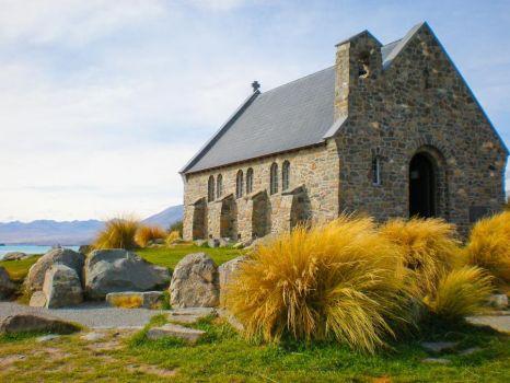 Church at Lake Tekapo New Zealand