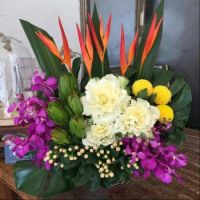 Happiness is.... A Beautiful Tropical Arrangement.