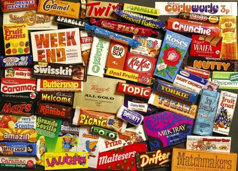 1960'S CHOCOLATE & SWEETS