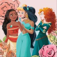 Moana, Cinderella, Jasmine and Merida