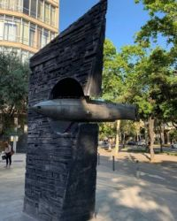 Submarine sculpture Barcelona
