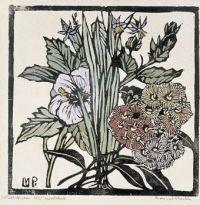 Margaret Preston, Native Hibiscus and gum flowers. (circa 1936)